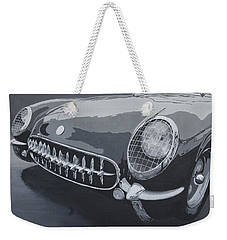 Weekender Tote Bag featuring the painting Chevrolet Corvette 1954 by Anna Ruzsan