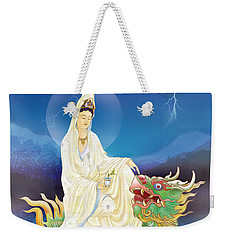 Weekender Tote Bag featuring the photograph Chi Lin Kuan Yin by Lanjee Chee
