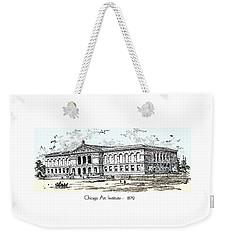 Chicago Art Institute -  1879 Weekender Tote Bag