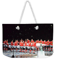 Chicago Blackhawks And The Banner Weekender Tote Bag