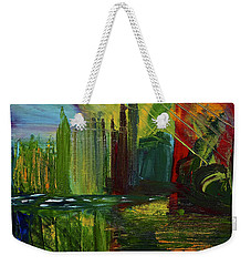 Chicago City Scape Weekender Tote Bag by Dick Bourgault