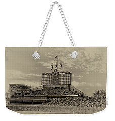 Chicago Cubs Scoreboard In Heirloom Finish Weekender Tote Bag