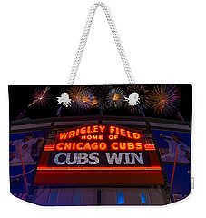 Chicago Cubs Win Fireworks Night Weekender Tote Bag
