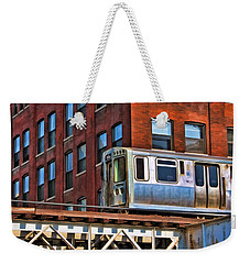 Chicago El And Warehouse Weekender Tote Bag