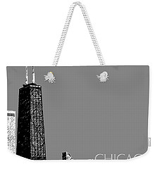 Chicago Hancock Building - Pewter Weekender Tote Bag
