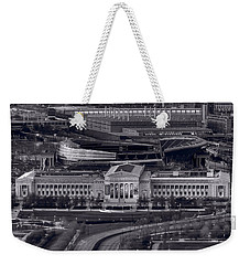 Chicago Icons Bw Weekender Tote Bag by Steve Gadomski