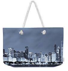 Chicago In Blue Weekender Tote Bag by Sebastian Musial