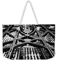 Chicago 'l' Tracks Winter Weekender Tote Bag