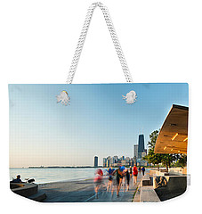 Chicago Lakefront Panorama Weekender Tote Bag by Steve Gadomski