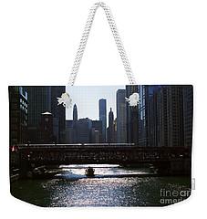 Chicago Morning Commute Weekender Tote Bag