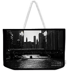 Chicago Morning Commute - Monochrome Weekender Tote Bag