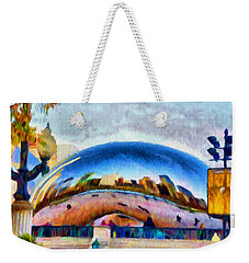 Chicago Reflected Weekender Tote Bag