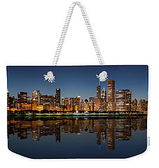 Chicago Reflected Weekender Tote Bag by Semmick Photo