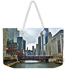 Chicago River And City Weekender Tote Bag