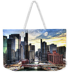 Chicago River Weekender Tote Bag by Tammy Wetzel