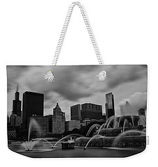 Chicago City Skyline Weekender Tote Bag by Miguel Winterpacht