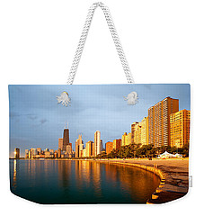 Weekender Tote Bag featuring the photograph Chicago Skyline by Sebastian Musial