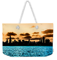 Chicago Skyline Silhouette Weekender Tote Bag by Semmick Photo