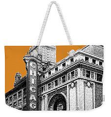 Chicago Theater - Dark Orange Weekender Tote Bag
