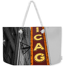 Chicago Theater Selective Color Weekender Tote Bag