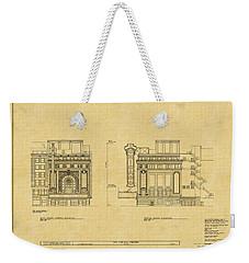 Chicago Theatre Blueprint 2 Weekender Tote Bag