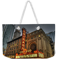 Chicago Theatre Hdr Weekender Tote Bag