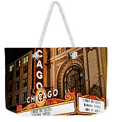 Chicago Theatre Marquee Sign At Night Weekender Tote Bag