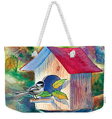 Chickadee Bungalow Weekender Tote Bag