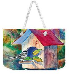 Chickadee Bungalow Weekender Tote Bag by Teresa Ascone
