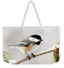 Chickadee Weekender Tote Bag by Christina Rollo