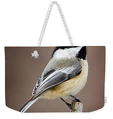 Chickadee Square Weekender Tote Bag by Bill Wakeley
