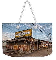 Chicken Oil Company Weekender Tote Bag by Linda Unger