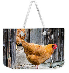 Chickens At The Barn Weekender Tote Bag