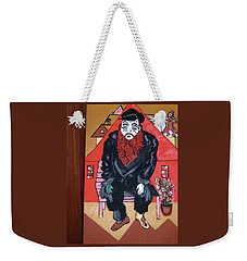 Weekender Tote Bag featuring the painting Chigall By Nora by Nora Shepley