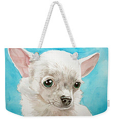 Chihuahua Dog White Weekender Tote Bag
