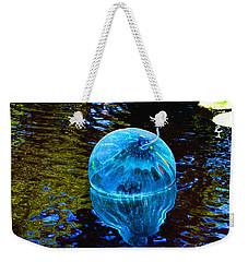 Artsy Blue Glass Float Weekender Tote Bag