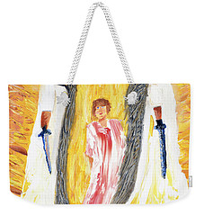 Child Being Escorted Into Heaven Weekender Tote Bag