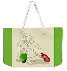 Child With Sand Toys Weekender Tote Bag by MM Anderson