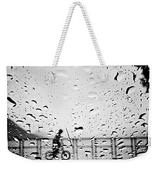 Children In Rain Weekender Tote Bag by Jerry Cordeiro