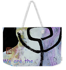 Weekender Tote Bag featuring the mixed media Children Raise Us Well by Peter v Quenter