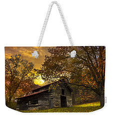 Chill Of An Early Fall Weekender Tote Bag by Debra and Dave Vanderlaan