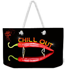 Chilli Pepper And Text Chill Out Weekender Tote Bag