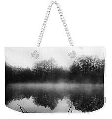 Chilly Morning Reflections Weekender Tote Bag by Miguel Winterpacht