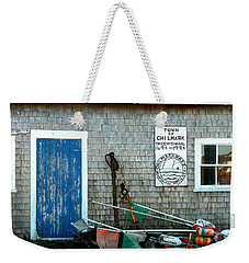 Chilmark Dock Shack Weekender Tote Bag by Kathy Barney
