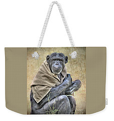 Weekender Tote Bag featuring the photograph Chimpanzee by Savannah Gibbs
