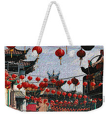 Weekender Tote Bag featuring the photograph Chinatown by Nadalyn Larsen