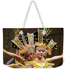 Chinese Dancers Perform Thousand Hands Guan Yin Weekender Tote Bag by Lingfai Leung