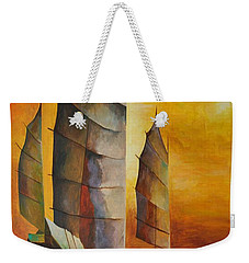 Chinese Junk In Ochre Weekender Tote Bag by Tracey Harrington-Simpson