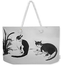 Chinese Painting Cats Weekender Tote Bag