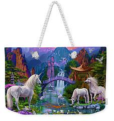 Chinese Unicorns Weekender Tote Bag by Jan Patrik Krasny